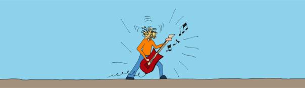 La chitarra (del rock 'n' roll)